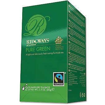 Ridgways Pure Green Tea Faritrade Envelope Tea Bags