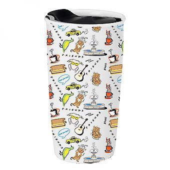 Friends Icons 10 Ounce Ceramic Travel Mug