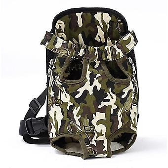 Pet Dog Carrier Backpack, Mesh Camouflage Outdoor Travel Breathable Shoulder