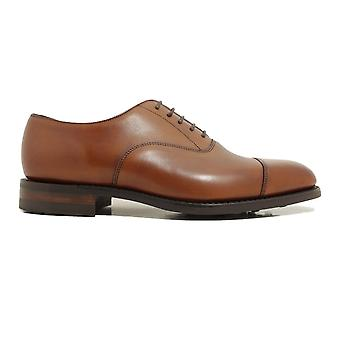 Loake Aldwych Mahogany Burnished Calf Leather Mens Oxford Lace Up Shoes