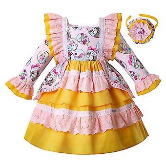 Blume Kaninchen Pettygirl Muster Kleid, Säugling