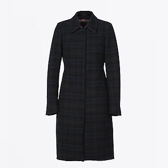 HIGH  - Embrace - Technical Checked Coat - Black/Navy