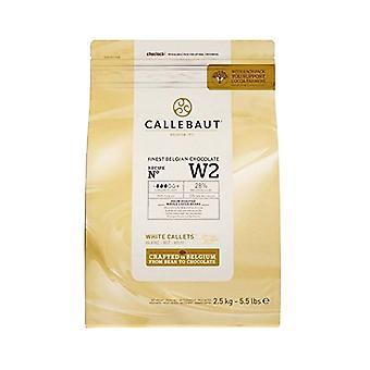 Croustilles de chocolat blanc belge Callebaut 2.5kg