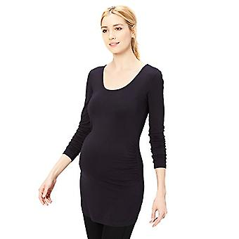 Marque - Daily Ritual Women-apos;s Maternity Long-Sleeve Ruched Side T-Shirt...