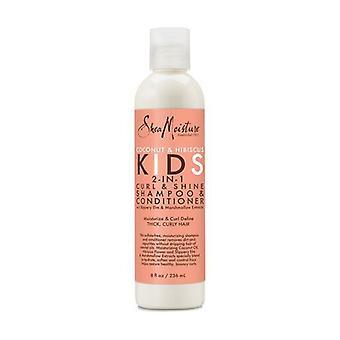 shea moisture c&h kids 2-in-1 ch & cond 8oz/ new 236 ml