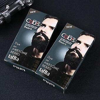 Men Beard Dye Cream - Natural Black Beard Tint Cream With 1 Pair Of Disposable