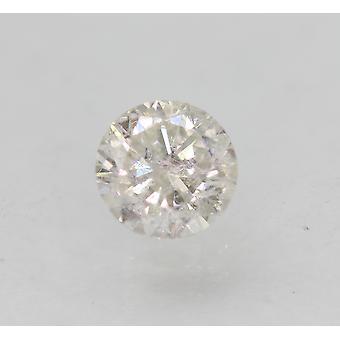 認定 0.56 カラット F SI1 ラウンド ブリリアント エンハンスナチュラルルーズ ダイヤモンド 5.16mm