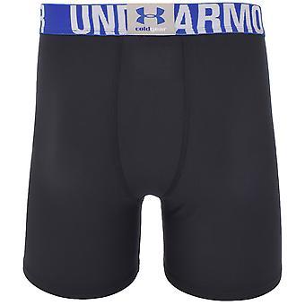 Under Armour Boys ColdGear EVO Sports Gym Compression Baselayer Shorts - Black