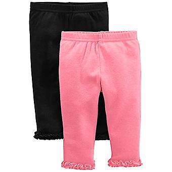 Simple Joys de Carterăs Baby Girlsă 4-Pack Pant, Navy, Gray Dot, Pink, Floral...