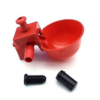 Drinker Drinking Cups For Chickens - Red Quail Chicken Waterer Bowl,  Automatic