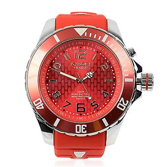 KYBOE Water Resistant Summer Romance LED Mens Watch in Steel with Rotating Bezel