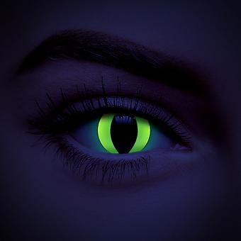 Yellow Cat UV i-Glow Coloured Contact Lenses (90 Day)