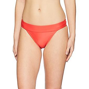 Merkki - Mae Naiset&s Uimapuvut Banded Röyhkeä Bikini Bottom,Papaya,Large