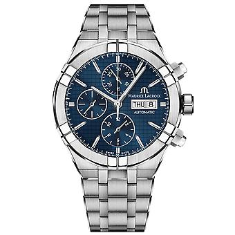 Maurice Lacroix Aikon Automatic Blue Dial Silver Stainless Steel Mens Watch AI6038-SS002-430-1