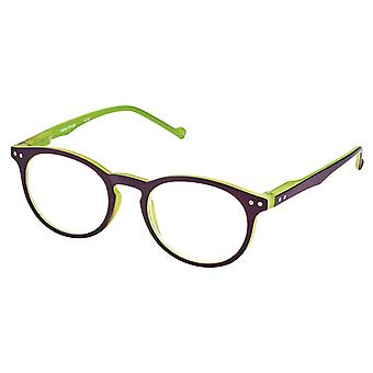 Reading glasses Unisex Libri_x two-tone green/violet thickness +1.5