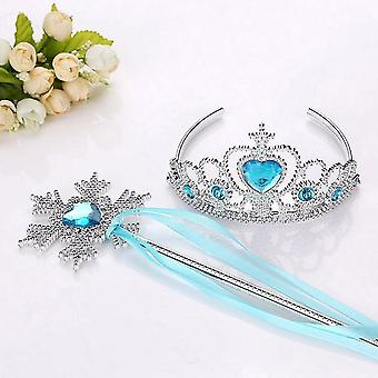 Frozen 2 Headband Elsa Princess Crown Cosplay Baby Girls Snowflake Magic Stick Children Party Toys Birthday Gift Photo Prop