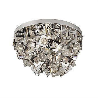 4 Light Flush Plafond licht chroom, G9
