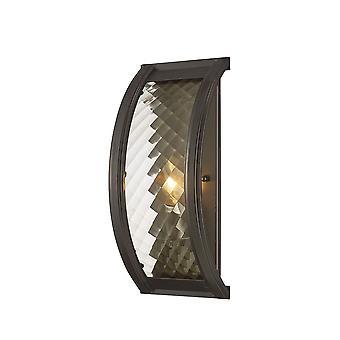 Inspiriert Diyas - Asien - Flush Wandleuchte 1 Licht E14 geölte Bronze, Klarglas