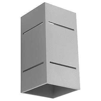 Sollux BLOCCO - 1 Light Flush Wall Light Grey, G9