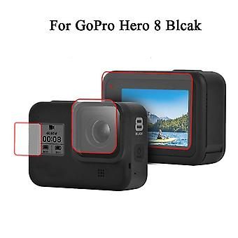 Tempered Glass Protector Cover Case For Gopro Hero 5// 7/8, Camera Lens Cap Lcd