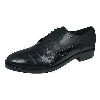 Geox D Brogue B naisten nahka pitsi ylös kengät - musta