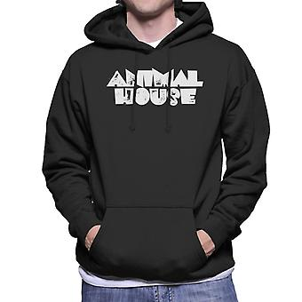 Animal House White Logo Hombres's Sudadera con capucha