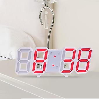 3d Led Digital Nightlight Wall Clock