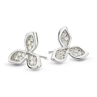 Kit Heath Blossom Bloemblaadje Bloom White Topaz Verklaring Stud Oorbellen 30272WT