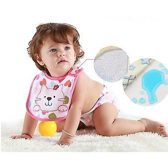 Hzirip Baby Bibs Cute Cartoon Pattern Toddler Waterproof Saliva Towel Cotton