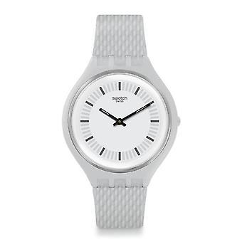 Swatch Svum102 Skinstructur Licht grau Silikon Uhren