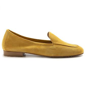 Moccastic Woman Nouvelle Femme In Suede Mustard