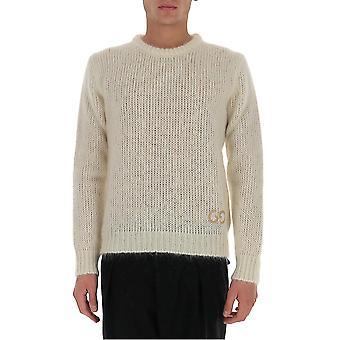 Gucci 634572xkbj19166 Men's White Wool Sweater