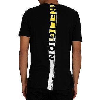 Religion 30bbun03 Back Stripe Logo T-shirt - Black