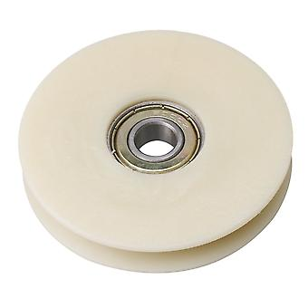 Beige Nylon Garage Door Groove Bearing Cable Pulley Wheel 68x12.5mm