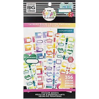 Happy Planner Sticker Value Pack-Layered Boxes, 356/Pkg