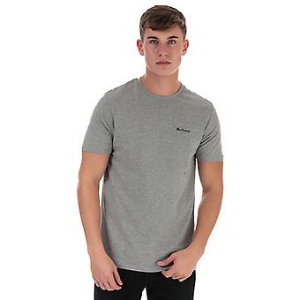 Men's Ben Sherman Skript bestickt T-Shirt in grau