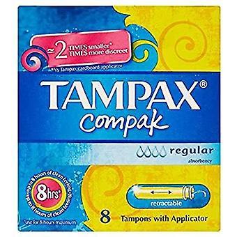 Tampax Compact Regular 8's x6
