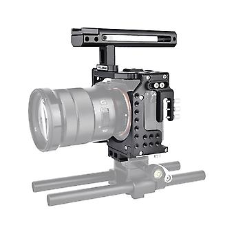 YELANGU CA7 YLG0908A Griff Videokamera Käfigstabilisator für Sony A7K & A7X & A73 & A7S & A7R & A7RII & A7SII (Schwarz)
