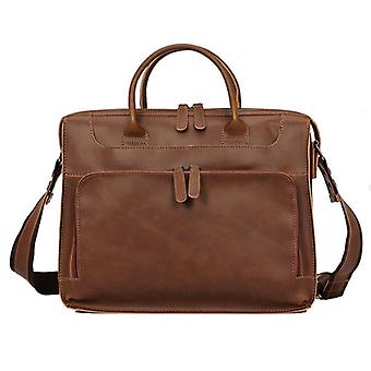 Women/men Leather Large Capacity Shoulder Bag