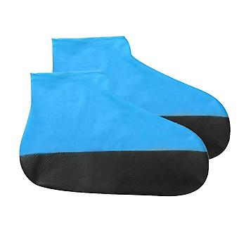 1pair Anti Rain Emulsion Shoe Cover, Portable Thick Sole Waterproof Reusable