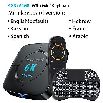 Android / youtube / google Assistant 3d Video, Wi-Fi Bluetooth Tv Box