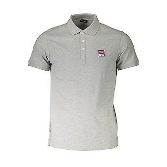 חולצת פולו דיזל שרוולים קצרים גברים SAVB T-KAL-PATCH