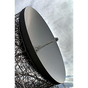 The Lovell Telescope is a radio telescope at Jodrell Bank Observatory in Cheshire England Poster Print