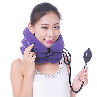 Cervical Traction Device Velvet Inflatable Neck Brace Three-layer Metal Valve Medical Care