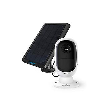 Reolink outdoor solar security camera wireless rechargeable battery 1080p starlight color night visi