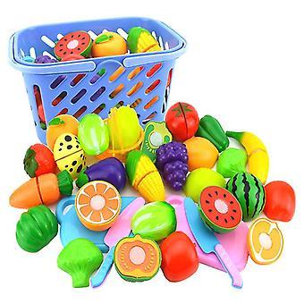 Lasten lelut, 23kpl keittiöleluja, leikkaavat leluja, teeskentelevät vihanneksia Hedelmät pelaavat ruoka koulutusleluja