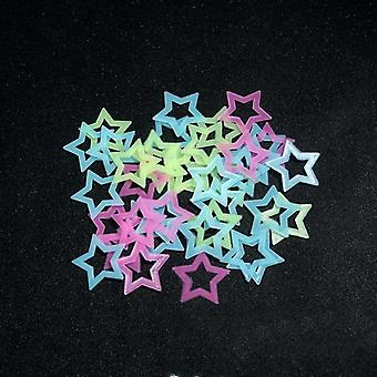 3d Hollow Star Energy Storage Fluorescent Glow en la pared luminosa oscura