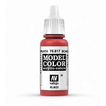 Vallejo Model Color 17ml Acrylic Paint - 817 Scarlet