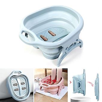 Folding foot care tub portable foot wash massage bucket
