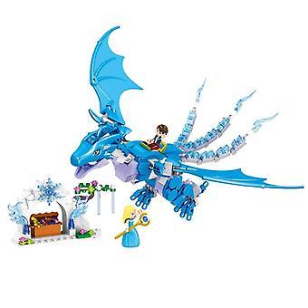 Elfen lange Rettung Dragon Baustein Ziegel pädagogisches Spielzeug für kompatibel